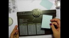 Make tags using the Stampin' Up! Envelope Punch Board by We R Memory Kee...