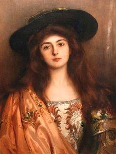 Portrait of a woman by Albert Lynch (1851-1912)