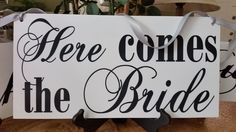 Wedding Photo Props, 2 sets of signs Thank You and Here Comes the Bride #CustomMade