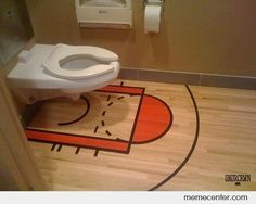I can see this in Tony's man bathroom! With a Jordan fathead to go with it!