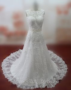 Real Pictures Empire Lace Wedding Dresses Lace-up by IVIDRESS