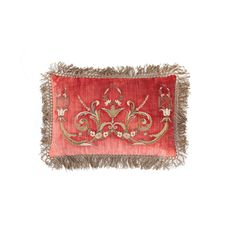 Thalia Cushion in Como Silk Velvet - Pompeiian Red