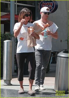 Celeb Diary: Ed Westwick & Jessica Szohr @ Jersey Mike's in Hollywood