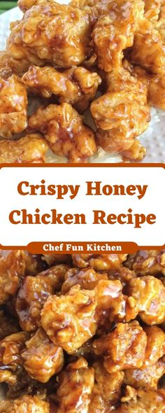 Crispy Honey Chicken Recipe Crispy Honey Chicken Recipe Chunked chicken covered in pro flour after which dipped in buttermilk fried till splendid crispy after which soaked in a sweet honey soy sauce Chunked Honey Recipes, Meat Recipes, Asian Recipes, Cooking Recipes, Sandwich Recipes, Recipies, Crispy Honey Chicken, Food Porn, Fried Chicken Recipes