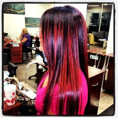 red ombre touch up