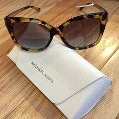 Michael Kors Taormina Modern Square Sunglasses & Case
