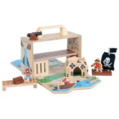 Aargh me hearties!  The latest addition to the boxset family by the fabulous Tiger Tribe has arrived!  If you have your own little pirate at home, this brand new wooden Pirate Boxset will keep them entertained for hours - search for hidden treasure, set sail on the pirate sea or escape to a secret hideaway!  Little Boo-Teek - Tiger Tribe Online | Wooden Toys | Gifts for Boys