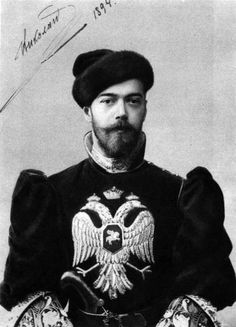 Nicholas II of Russia, AKA Nicholay Alexandrovich Romanov, 1903, known as Bloody Nicholas for his violent intolerance of all who challenged him and as Saint Nicholas the Passion-Bearer by the Russian Orthodox Church, the last czar of Russia who also ruled over Finland and Poland.  My Finnish grandfather escaped the purges in Finland and emigrated to the US in 1909 to escape this tyrant whose reign lasted until 1917.