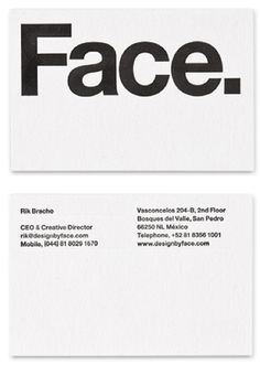 Black and white, Face branding by Face studio design _