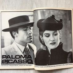 Paloma Picasso and Rafael Lopez Sanchez. Photo by Helmut Newton. Helmut Newton, Paloma Picasso, Picasso Pictures, Lisa Taylor, Star Wars, Extraordinary People, Vogue Us, French Fashion Designers, Tiffany And Co