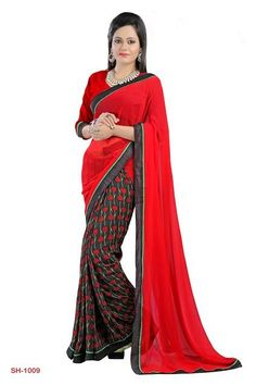 Bring in your best looks this season with fabulous Ethnic attires! This amazing Multicolor Saree is from the best collections of Sarees with Georgette fabric.