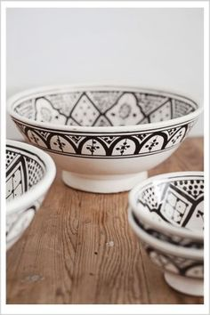 Want for jewelry storage - Beautiful hand-made ceramic bowls from Morocco