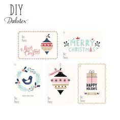 Tags de Natal Dalutex! Click para fazer o dowload, e depois é só imprimir e recortar. #dalutex #tagdenatal #tag #merrychristmas #DIY