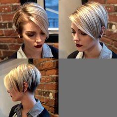 Hair Beauty - -Corte - hair styles for short hair shorthaircolorpixie Love Hair, Great Hair, Bobs For Thin Hair, Multicolored Hair, Short Hair Cuts For Women, Shoulder Length Hair, Pixie Haircut, Hair Dos, Hair Trends