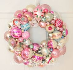 Vintage Christmas Ornament Wreaths 2012 by georgiapeachez, via Flickr
