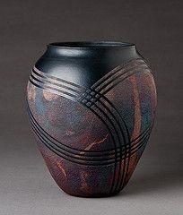 Raku Copper Sand Vase by natureofclay