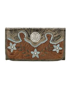 American West Women's Desert Wildflower Tri-Fold Wallet  http://www.countryoutfitter.com/products/31316-womens-desert-wildflower-tr-fold-wallet