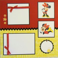 Disney MINNIE MOUSE 12x12 Premade Scrapbook Pages.