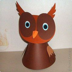 Сhildren's crafts from paper cones Animal Crafts For Kids, Easy Crafts For Kids, Craft Activities For Kids, Animals For Kids, Preschool Crafts, Diy For Kids, Origami, Owl Kids, Paper Owls
