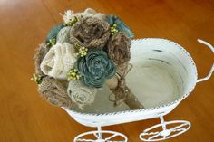 Hey, I found this really awesome Etsy listing at http://www.etsy.com/listing/124323460/wedding-sola-wood-bouquet-burlap-bouquet