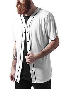 TAILLE L Urban Classics Baseball Mesh Jersey, T-Shirt Homme, Multicolore-Mehrfarbig (Wht/Blk 224), M