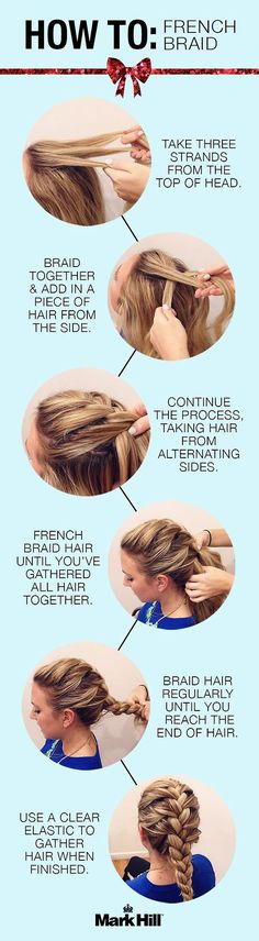 A quick and easy tutorial on how to do a French Braid. This could really come in handy.