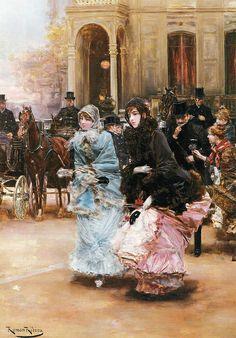 "Roman Ribera Cirera (Spanish, 1848-1935), ""Going to the Ball"" by sofi01, via Flickr"