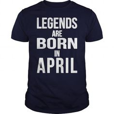 Awesome Tee Legends Are Born In April quote T-Shirt T shirts