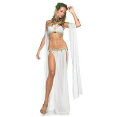 Goddess of Love Costume, Greek Goddess Belly Dancer Costumes