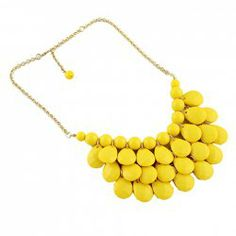 $5.81 Fashion Waterdrop Pendant Candy Color Necklace For Women