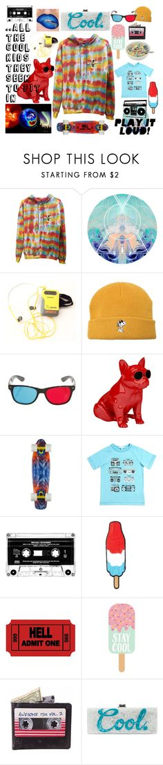 """""""..all the cool kids they seem to fit in"""" by kaleidoscopekidco ❤ liked on Polyvore featuring Sony, Vans, Jarre, Little Marc Jacobs, Hollywood Mirror, Native State and Edie Parker"""