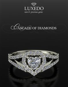 Tips for Buying Diamond Rings and Other Fine Diamond Jewelry Heart Shaped Diamond Ring, Heart Shaped Engagement Rings, Unique Diamond Engagement Rings, Engagement Tips, Heart Jewelry, Fine Jewelry, Unique Jewelry, Heart Rings, Emerald Jewelry