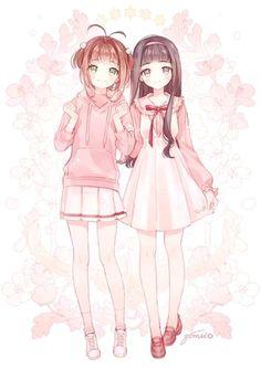 Anime, art, and pink image Anime Girl Cute, Beautiful Anime Girl, Kawaii Anime Girl, Anime Art Girl, Anime Girls, Cardcaptor Sakura, Sakura Card Captor, Anime Chibi, Chica Anime Manga
