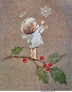 Little Angel ~ Artist Ruth Morehead Vintage Christmas Cards, Christmas Pictures, Christmas Angels, Christmas Art, Vintage Cards, Winter Christmas, Christmas Decorations, Christmas Ornaments, Xmas