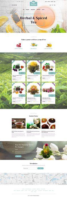 Template 63336 - Tearider Tea  Responsive PrestaShop  Theme