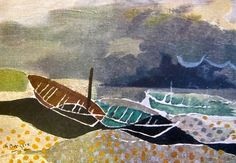 Braque: Les Barques. 1951 oil on canvas 7.5 x 10.6 in. (19 x 27 cm) (slightly cropped).