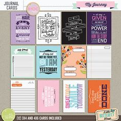 My Journey Journal Cards by Little Butterfly Wings at The Lilypad