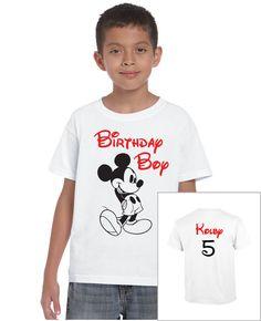 Disney Mickey Mouse Custom Birthday Boy Shirt by 503made on Etsy