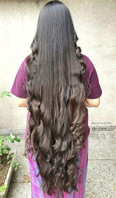 Long Silky Hair, Long Curls, Long Black Hair, Braids For Long Hair, Loose Hairstyles, Indian Hairstyles, Hairstyles Haircuts, Pretty Hairstyles, Really Long Hair