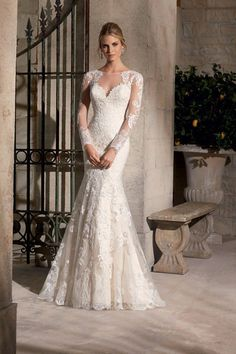 Cheap dress gift, Buy Quality dress slip directly from China dress up casual dress Suppliers:   vestido de noiva sereia 2015 Long Sleeves Lace Wedding Dresses See Through O-Neck Mermaid Bride Dress