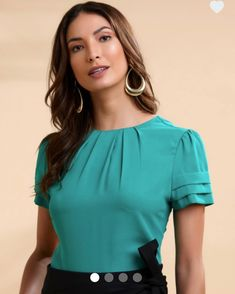 Sleeves Designs For Dresses, Dress Neck Designs, Blouse Designs, Office Outfits Women, Business Casual Outfits, Classy Outfits, African Blouses, Pencil Skirt Outfits, Blouse Models
