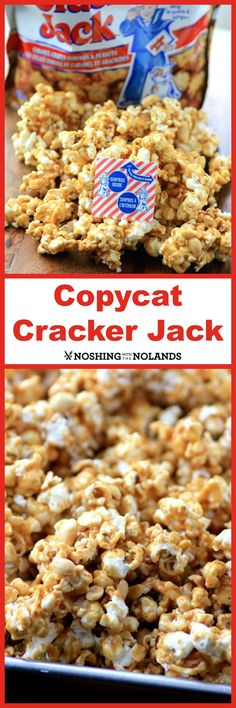 The list goes on with his talents and accomplishments. This day though I thought I would tackel caramel and do a Copycat Cracker Jack.