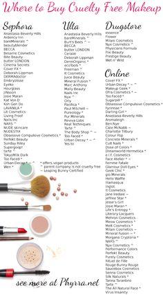 Where to Buy Cruelty Free Makeup - Sephora, Ulta, the Drugstore and Online #crueltyfreeblogger #crueltyfreebeauty #crueltyfree #crueltyfreestores