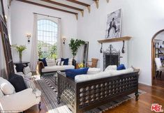 Homely: The updated Spanish style abode has essential interior spaces such a living room, ...