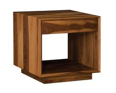 Wood all the way…great contrast piece to show off!  Modern End Table Express Ideas | Homes Furnitures