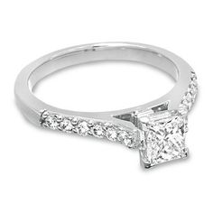 1 CT. T.W. Certified Colorless Princess Cut Diamond Solitaire Engagement Ring in 18K White Gold - Save on Select Styles - Zales