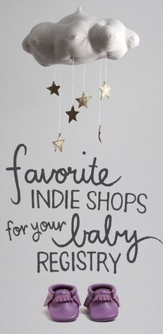 Include items from the best indie makers on your registry - you've got to check out BabyList for your baby registry. #shopsmall
