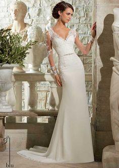 Brautkleider im unteren Preissegment | miss solution Bildergalerie - Modell 5306 (Blu) by MORI LEE