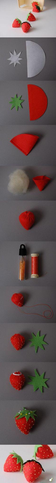 Aardbeien van vilt | Creative Expressions