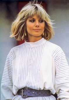 Jack D. Blonde Bob With Fringe, Blonde Blunt Bob, Blonde Bobs, Glynis Barber, Vintage Hairstyles, Messy Hairstyles, Hairstyle Ideas, Medium Hair Styles, Short Hair Styles
